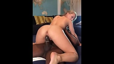 Amateur Blonde Wife Rides BBC While Cuckold Husband Records