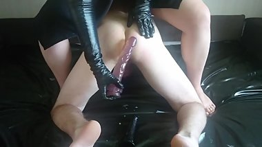 Leather gloves and toys