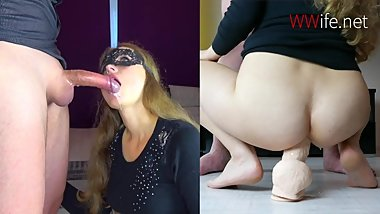 Blonde Deepthroat and ANAL Big Cock