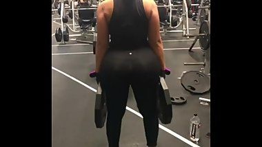 Jcakes enormous fake ass compilation (gym & more)