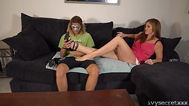 Ivy Secret Gives A Fan His First Footjob Preview