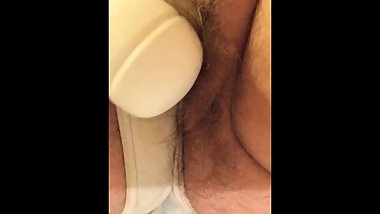 Mature MILF Squirting Messy Piss Orgasm in Panties