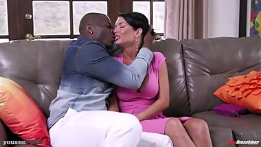Intense Interracial Kiss between Rob Piper and Veronica Avluv