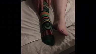 Irish cougar mom foot fetish show lube included  Solo