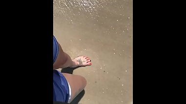 amateur wife toes in the sand slow m