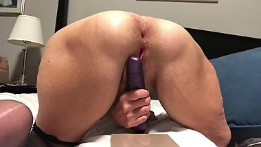 Ass Play dildo buttplug Mature Milf Granny Gilf 60 year old gape spread