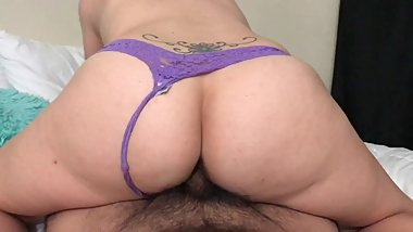 Wifey drains my balls with multiple positions and blowjob creampie ending