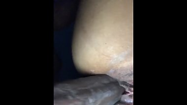 Creamy wet pussy fucked while mom is sleep upstairs.