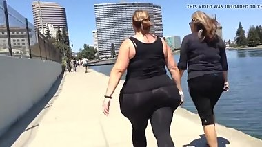 Jiggly bbw walking