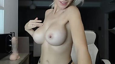 MILF with DD huge tits teasing and edging your cock - JOI