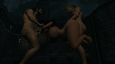 PREGNANT SKYRIM WHORE DANCES AND GETS FUCKED BY IMPERIAL SOLDIERS