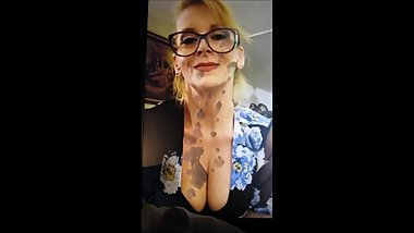 cum tribute to beautiful blonde MILF HumpinHannah