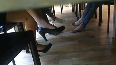 Candid heels at work#3