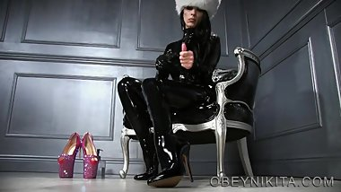 Mistress Nikita in Black Latex Catsuit