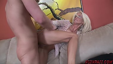 Busty Milf Rhyse Richards Takes a Big Younger Cock