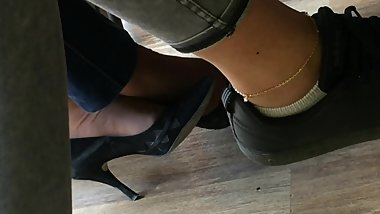 Candid heels at work