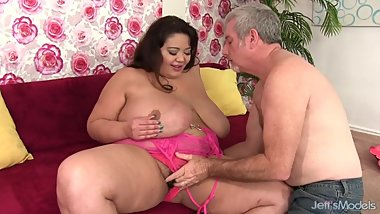 Hairy BBW blowjob and fucking