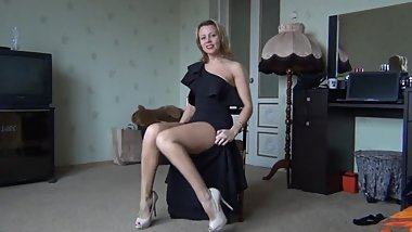 Sexy Russian Teacher masturbate