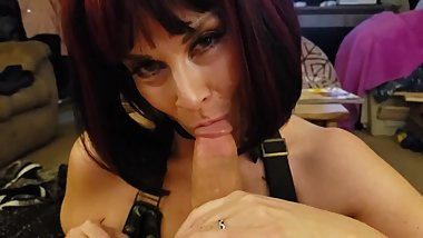 Big BOOB Goth Tattooed Thick MILF Sucks Fucks Married Neighbor cum bubble